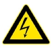 high voltage warning symbol